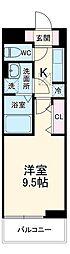 湘南新宿ライン高海 前橋駅 徒歩20分の賃貸アパート 1階1Kの間取り
