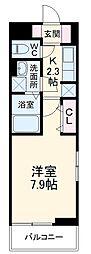 JR両毛線 新前橋駅 徒歩13分の賃貸アパート 2階1Kの間取り