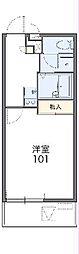 JR高崎線 高崎駅 バス29分 下大類下車 徒歩2分の賃貸マンション 2階1Kの間取り