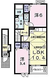 イースト ヴィレッジII 2階2LDKの間取り