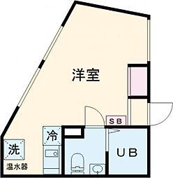東武伊勢崎線 東向島駅 徒歩2分の賃貸マンション 3階ワンルームの間取り