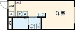 m-sation 4階ワンルームの間取り