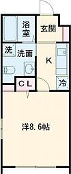 タスキsmart世田谷 3階1Kの間取り
