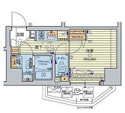 レオンコンフォート池田山 11階1Kの間取り
