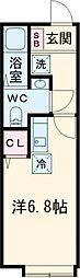 小田急小田原線 玉川学園前駅 徒歩20分の賃貸アパート 1階1Kの間取り