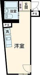 グラシアテラス高田馬場 3階ワンルームの間取り