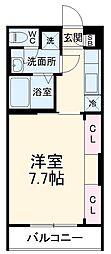 JR総武線 船橋駅 徒歩19分の賃貸アパート 2階1Kの間取り