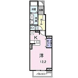 JR東海道本線 豊橋駅 バス11分 藤沢町下車 徒歩7分の賃貸アパート 1階1Kの間取り