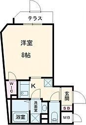 東京メトロ南北線 王子神谷駅 徒歩8分の賃貸マンション 3階1Kの間取り