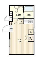 LiveFlat中野鷺宮 3階ワンルームの間取り