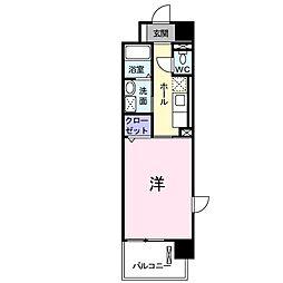JR川越線 的場駅 徒歩9分の賃貸マンション 3階1Kの間取り