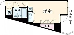 JR中央線 国分寺駅 徒歩3分の賃貸マンション 1階ワンルームの間取り