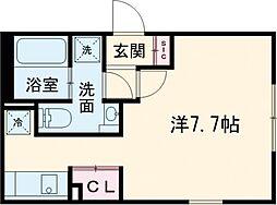 LUORE新江古田 1階ワンルームの間取り