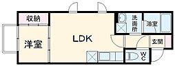 RAI 1階1LDKの間取り