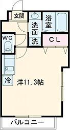グランドール町田B 3階ワンルームの間取り