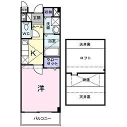 Osaka Metro谷町線 守口駅 徒歩9分の賃貸アパート 2階1Kの間取り