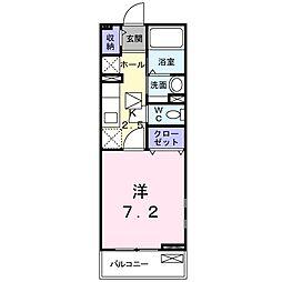 JR東海道本線 藤沢駅 徒歩12分の賃貸アパート 1階1Kの間取り