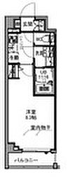 S−RESIDENCE王子east 9階1Kの間取り