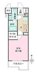 小田急小田原線 梅ヶ丘駅 徒歩6分の賃貸マンション 1階1Kの間取り
