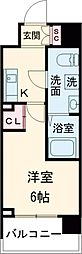 東急目黒線 不動前駅 徒歩4分の賃貸マンション 4階1Kの間取り