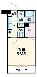 アネーロ三河安城 3階1Kの間取り