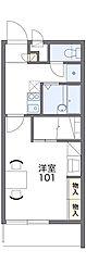 愛知高速東部丘陵線 杁ヶ池公園駅 バス12分 市ヶ洞下車 徒歩4分の賃貸マンション 3階1Kの間取り