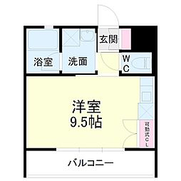 kibinosato 2階ワンルームの間取り