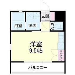 kibinosato 3階ワンルームの間取り