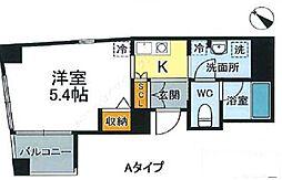 JR山手線 西日暮里駅 徒歩12分の賃貸マンション 5階1Kの間取り