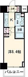 プラウドフラット西早稲田 2階1Kの間取り