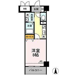 メゾン・ド・シルキー 4階1Kの間取り