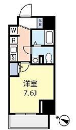 東京メトロ千代田線 千駄木駅 徒歩3分の賃貸マンション 3階1Kの間取り