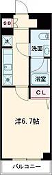 AZEST亀有II 2階1Kの間取り