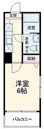 MELDIA中野島 1階1Kの間取り