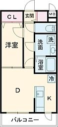 エルプレイス文京大塚 3階1DKの間取り
