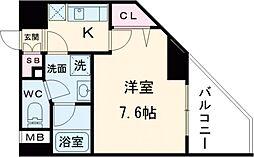 東武東上線 大山駅 徒歩6分の賃貸マンション 2階1Kの間取り