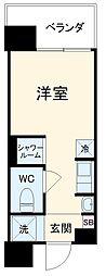 Hana House-Maezima 8階ワンルームの間取り
