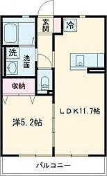 ノアージュIII 1階1LDKの間取り