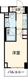 プラウドフラット西早稲田 3階1Kの間取り