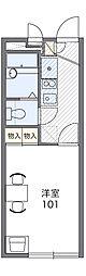 レオパレスHARASHIMA 1階1Kの間取り