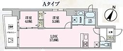 JR京浜東北・根岸線 大宮駅 徒歩10分の賃貸マンション 3階2LDKの間取り