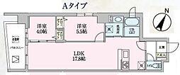 Luce 9階2LDKの間取り