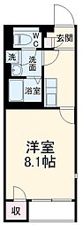 JR両毛線 前橋駅 バス31分 諏訪橋下車 徒歩2分の賃貸アパート 1階1Kの間取り