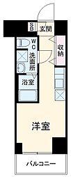 クラリッサ横浜阪東橋 8階1Kの間取り