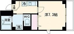 第76シンエイビル 3階1Kの間取り