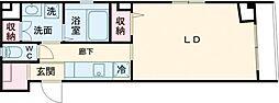 Lycoris 1階1Kの間取り