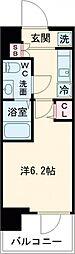 SHOKEN Residence亀有 12階1Kの間取り