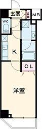 都営三田線 西台駅 徒歩5分の賃貸マンション 2階1Kの間取り