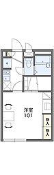 JR両毛線 前橋駅 バス34分 卸売センター下車 徒歩3分の賃貸アパート 1階1Kの間取り