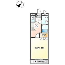 名古屋市営東山線 本郷駅 バス13分 猪高緑地下車 徒歩3分の賃貸アパート 1階1Kの間取り